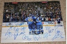St Loois Blues Signed Photo