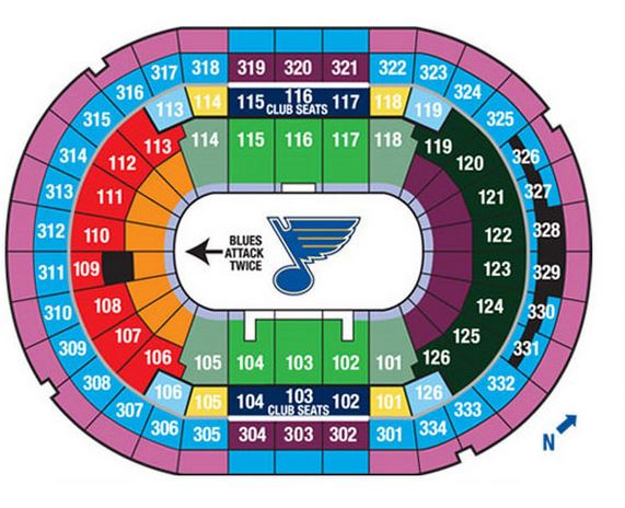 St louis Blues Seating Chart