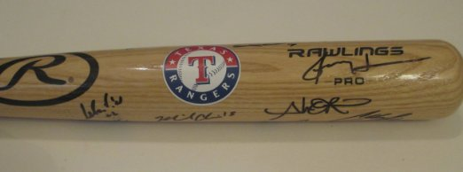 Texas Rangers Signed Bats