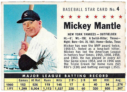 Comprehensive Guide to 1960s Mickey Mantle Cards 27