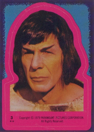 1979 Topps Star Trek The Motion Picture Stickers 3