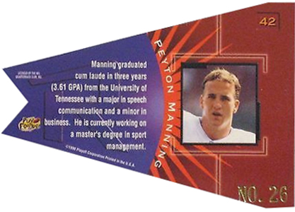 So Many Awesome 1998 Playoff Contenders Football Peyton Manning Cards 18