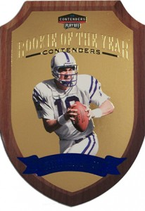 1998 Playoff Contenders Peyton Manning Rookie of the Year
