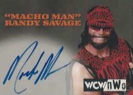 1999 Topps WCW nWo Nitro Autographs Macho Man Randy Savage