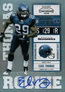 2010 Playoff Contenders Rookie Ticket Autograph Earl Thomas RC