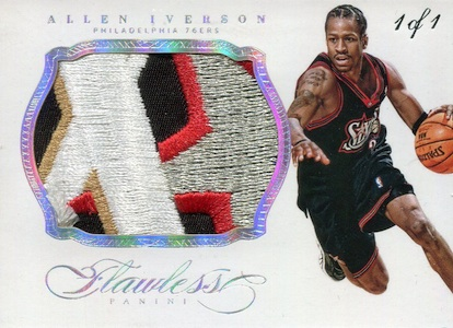 2013-14 Panini Flawless Basketball Patches Allen Iverson
