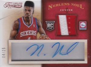 2013-14 Panini Timeless Treasures #116 Autographed Jersey Nerlens Noel RC