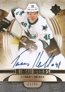 2013-14 Ultimate Collection Tomas Hertl RC #168 Autograph