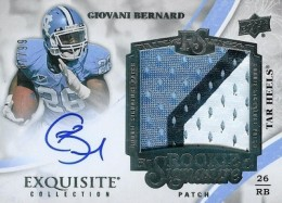 2013 Exquisite Collection Giovani Bernard #147 Autographed Jersey