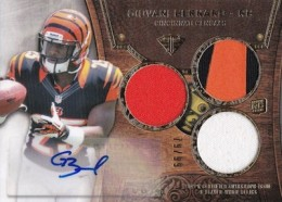 2013 Topps Triple Threads Giovani Bernard RC Autographed Jersey