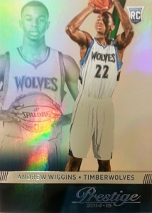 2014-15 Panini Prestige Basketball Base Andrew Wiggins