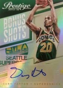 2014-15 Panini Prestige Basketball Bonus Shots Autograph