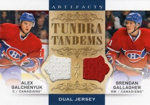 2014-15 Upper Deck Artifacts Hockey Tundra Tandems