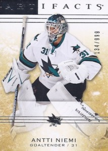 2014-15 Upper Deck Artifacts Hockey base goalies niemi