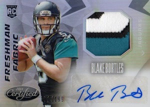 2014 Certified Blake Bortles RC #208 Autograph Jersey