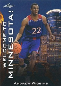 2014 Leaf Welcome to Minnesota Andrew Wiggins