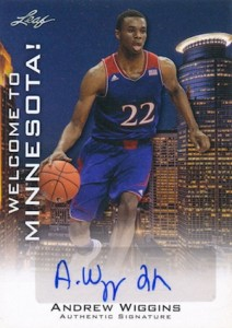 2014 Leaf Welcome to Minnesota Andrew Wiggins Autograph
