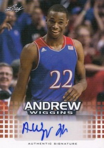 2014 NSCC Leaf Andrew Wiggins Autograph