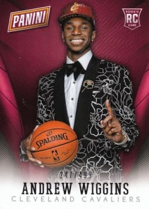 2014 NSCC Panini Wrapper Redemption Andrew Wiggins