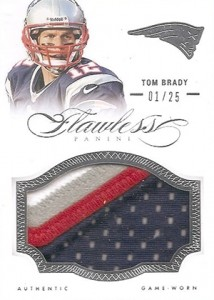 2014 Panini Flawless Football Patches Tom Brady