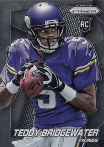 2014 Panini Prizm Variations Teddy Bridgewater Two Hands Facing Right