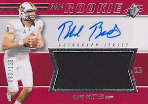 2014 SPx Blake Bortles #85 Autographed Jersey