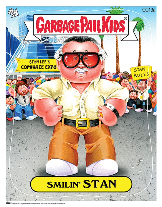 Stan Lee Garbage Pail Kids Print at 2014 Comikaze Expo 1