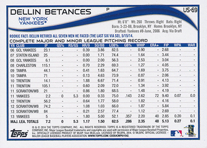 2014 Topps Update Series Baseball Variation Short Prints Guide 99