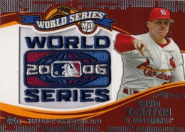 2014 Topps Update Series World Series MVP Patch David Eckstein