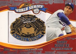 2014 Topps Update Series World Series MVP Patch Sandy Koufax