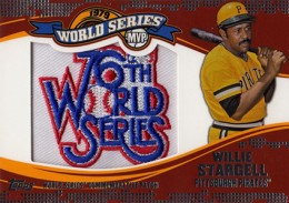 2014 Topps Update Series World Series MVP Patch Willie Stargell