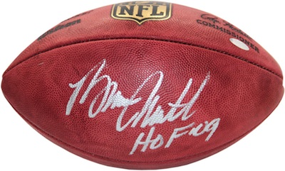 Bruce Smith Signed Football