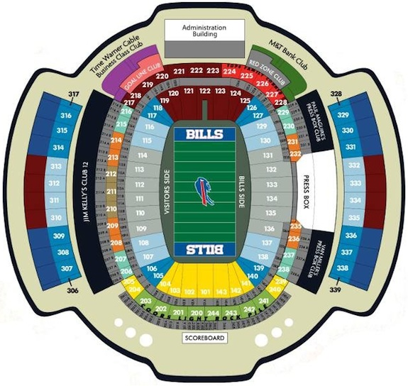 Buffalo Bills Ralph Wilson Stadium Seating Chart