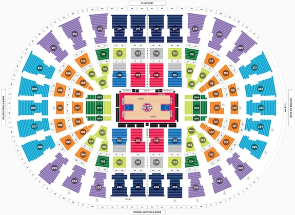 Detroit Pistons Seating Chart