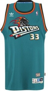 Detroit Pistons Throwback Vintage Jersey