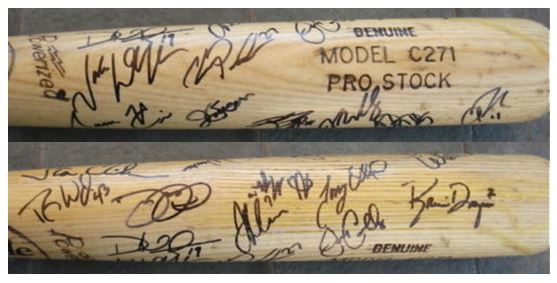 Minnesota Twins Team Signed Bat