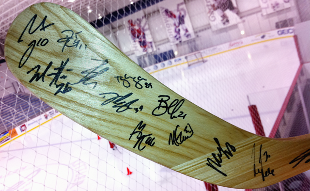 Washington Capitals Team Signed Stick