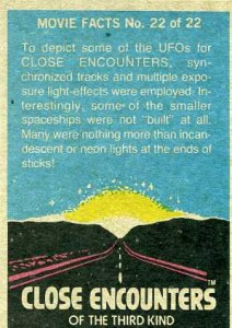 1978 Topps Close Encounters of the Third Kind Trading Cards 2