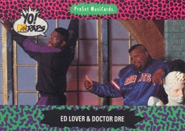 1991 Pro Set Yo MTV Raps Ed Lover and Doctor Dre