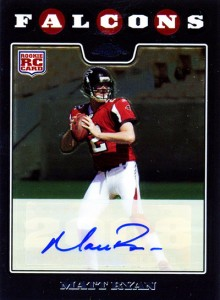 2008 Topps Chrome Matt Ryan Autograph