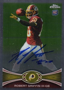 2012 Topps Chrome Football Rookie Autographs Robert Griffin III