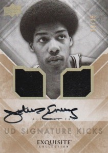 2013-14 Exquisite Collection Basketball Signature Kicks Foundations Julius Erving