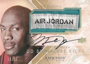 2013-14 Exquisite Collection Basketball Signature Kicks Jumbos Michael Jordan