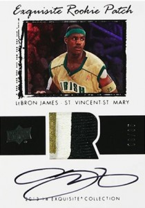 2013-14 Upper Deck Exquisite Collection Basketball LeBron James 03-04 Tribute Auto Patch