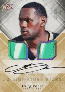 2013-14 Upper Deck Exquisite Collection Basketball Signature Kicks Foundations LeBron James