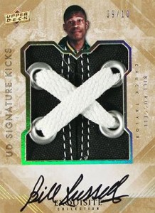 2013-14 Upper Deck Exquisite Collection Basketball Signature Kicks Laces Bill Russell