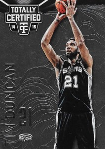 2014-15 Panini Totally Certified Basketball 109 Tim Duncan