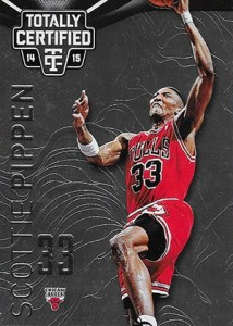 2014-15 Panini Totally Certified Basketball 118 Scottie Pippen