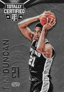 2014-15 Panini Totally Certified Basketball Variations 109 Tim Duncan