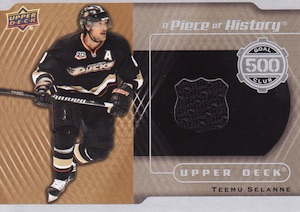 2014-15 Upper Deck Series 1 Hockey A Piece of History 500 Goal Club